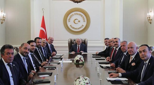 ATO Yönetimi Başbakan Binali Yıldırım'ı Ziyaret Etti