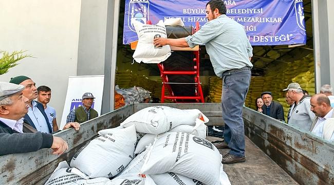 Ankaralı Çiftçilere Tohum Desteği