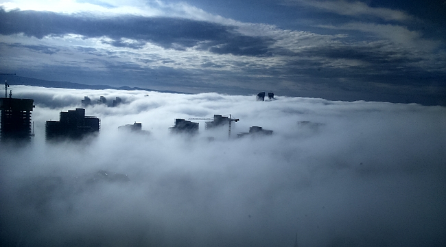 Ankara'da Sis Bulutlarından Manzaralar